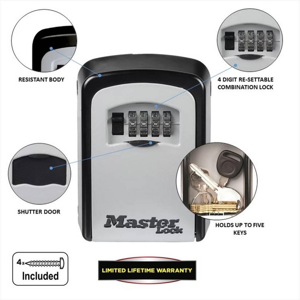 Minicoffre Master Lock Select Access A Fixer H 12 X L 8 3 X P 3 4 Cm Leroy Merlin