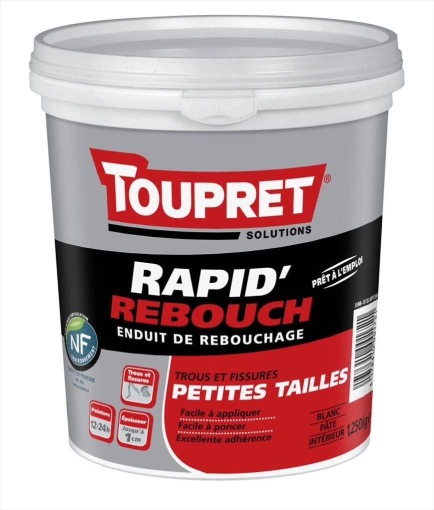 Enduit De Rebouchage Toupret Rapid Rebouch 1 25 Kg En Pate Pour Mur Plafond I Leroy Merlin