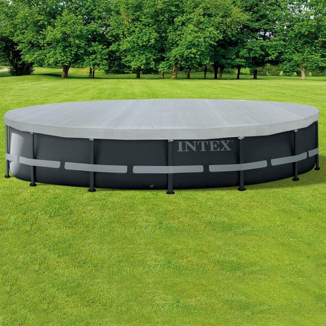 Bache De Protection Intex Pour Piscine Ronde 4m88 Leroy Merlin