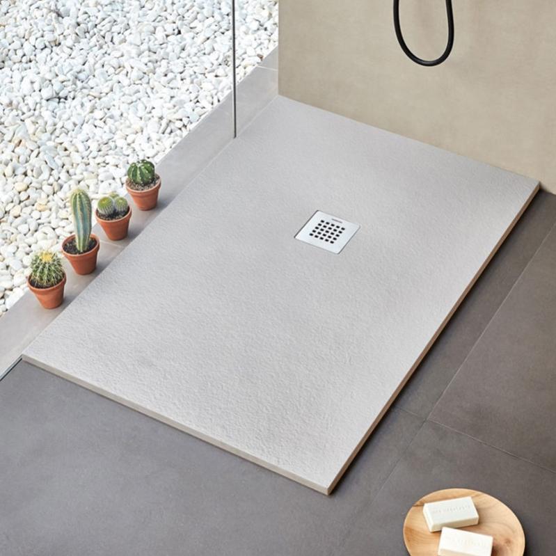 receveur de douche strato extra plat gris  160 x 100 cm