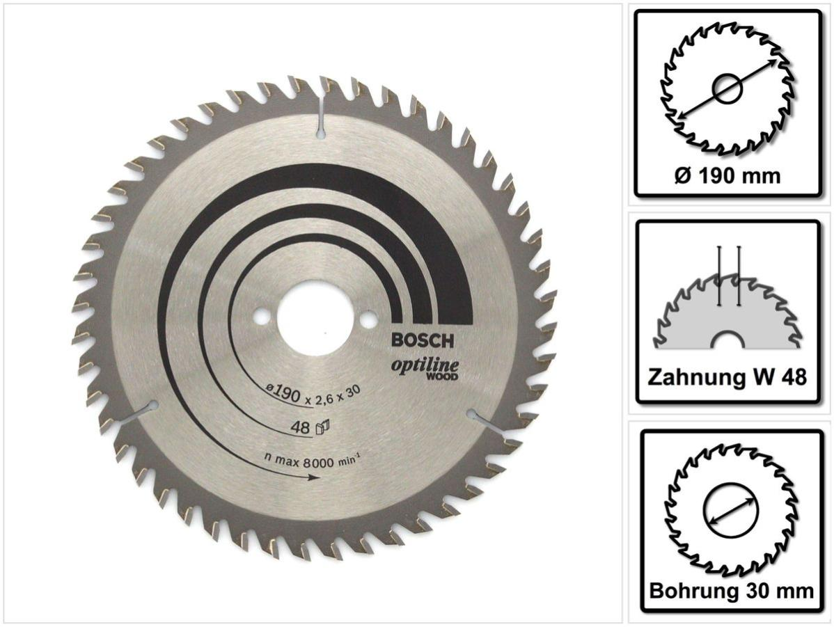 Bosch 2608640817 Optiline Wood 24 dents Lame de Scie Circulaire 184 X 16 mm