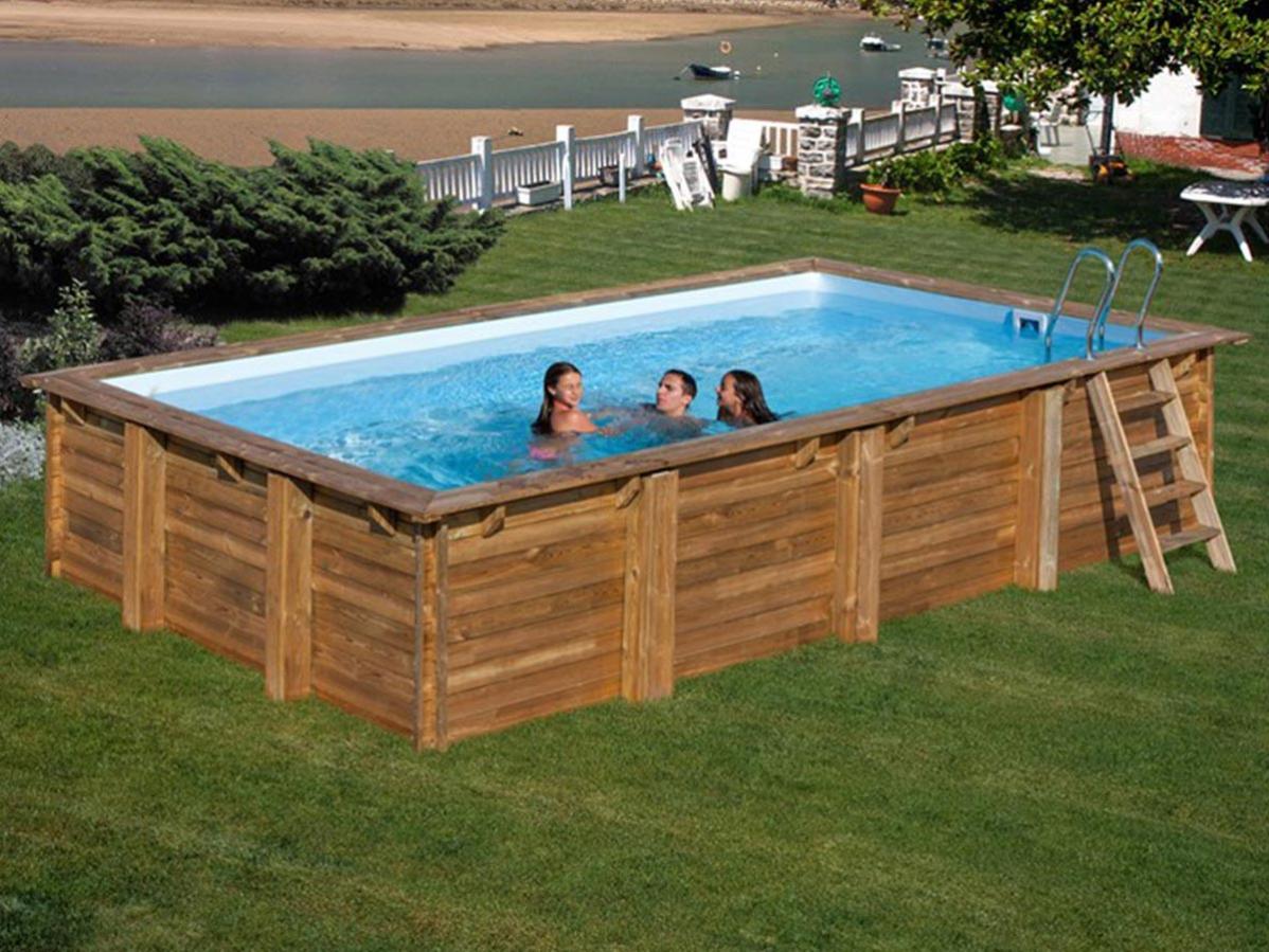 piscine bois anise 910 x 318 x 146 m  sunbay  leroy