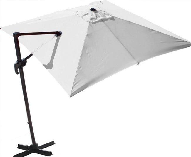 Parasol Déporté Orientable 360 Inclinable Gauche Droite 3 X 3 M Orient Proloisirs Leroy Merlin