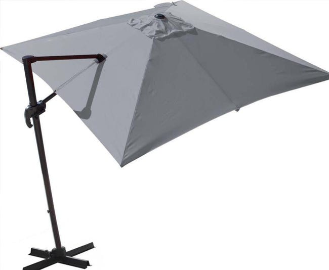 Parasol Déporté Orientable 360 Inclinable Gauche Droite 3 X 3 M Orient Leroy Merlin