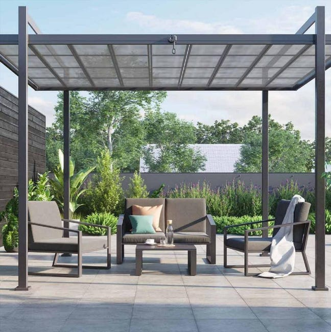 Salon Bas De Jardin Naterial Lyra Aluminium 4 Personnes Leroy Merlin