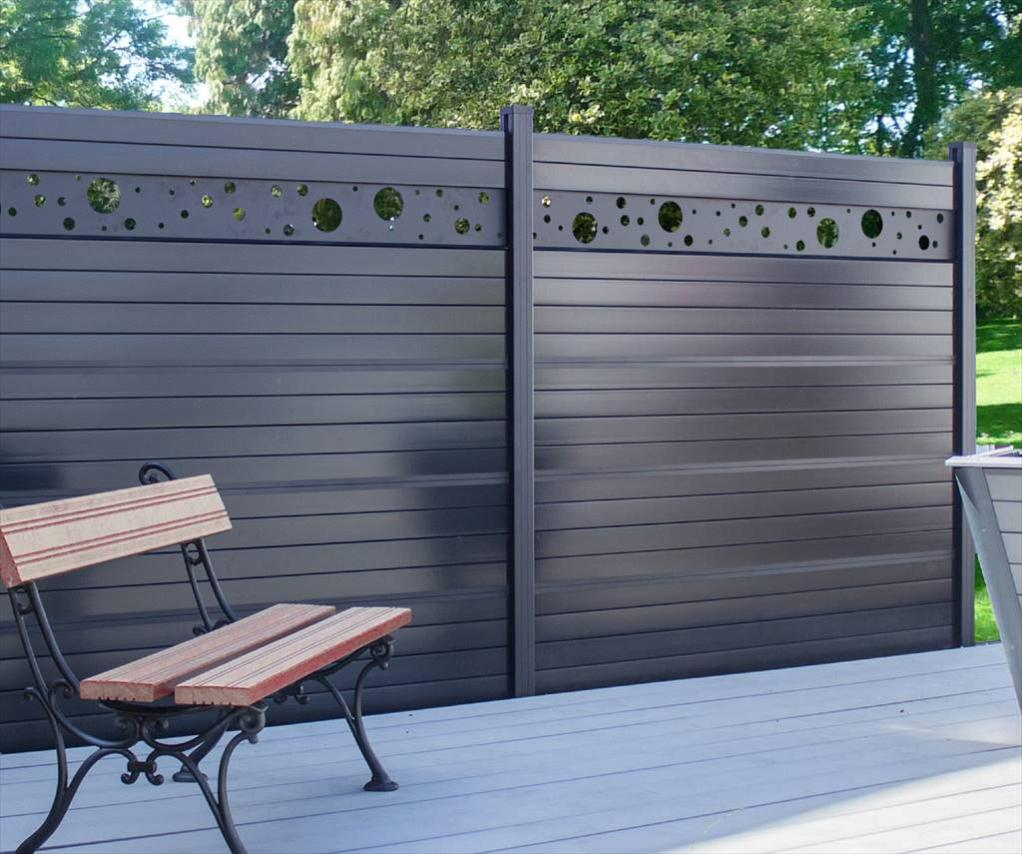 kit clôture composite sylway platine décor h170 x l178