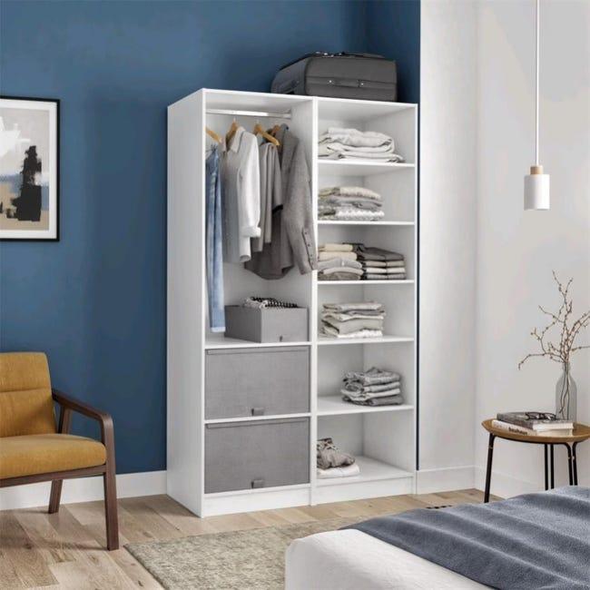 Dressing Blanc H 200 X L 120 X P 45 Cm Home Leroy Merlin