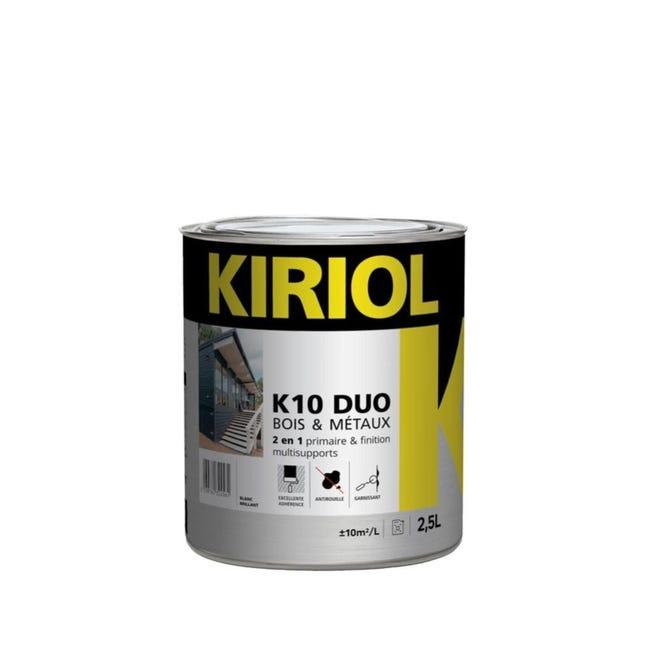 Peinture Multimateriau Exterieur K10 Blanc Brillant 2 5 L Leroy Merlin