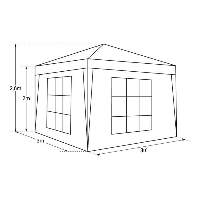 Tente De Reception Mistral Pliante 3x3m Beige Avec Panneaux Leroy Merlin