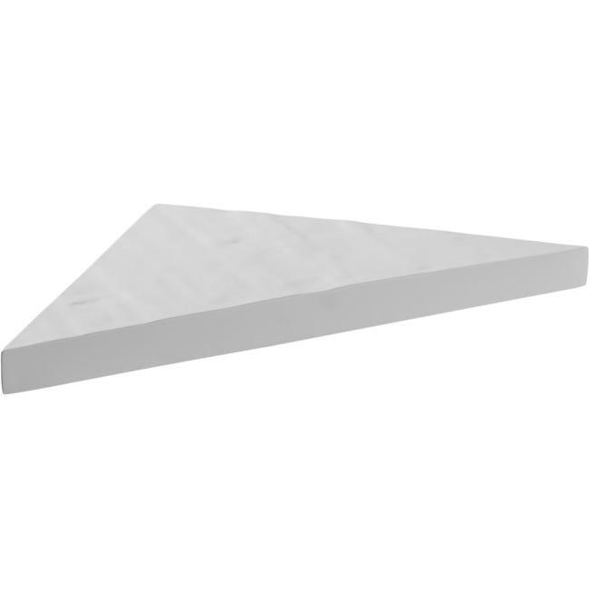 etagere d angle blanche en resine imitation pierre 24 x 24 cm x 2 4 cm d epaisseur resiste jusqu a 15 kilos