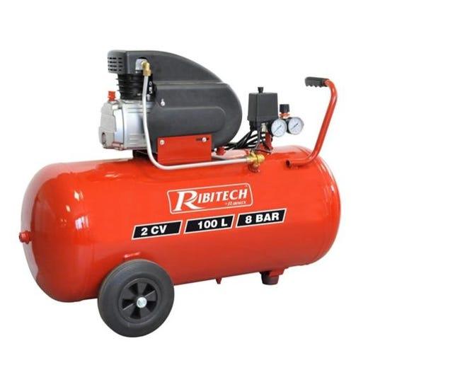 Ribitech Compresseur 100 Litres 8 Bar 2cv Prcomp2 100 Leroy Merlin