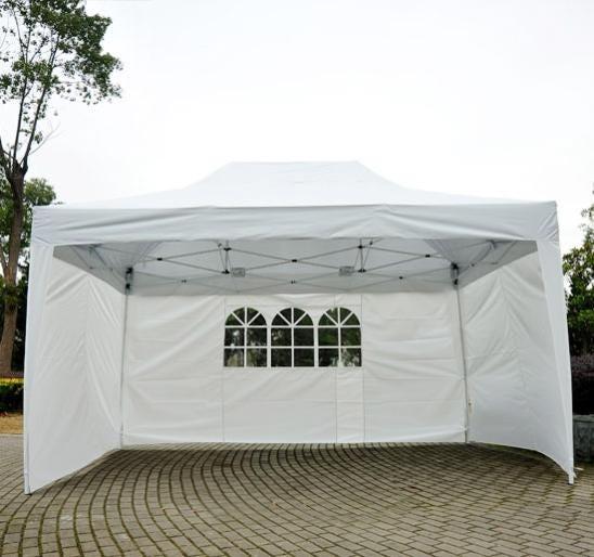 Tonnelle Tente De Reception Pliante Pavillon Chapiteau Barnum 3x4 5m Blanc Cotes Demontables Leroy Merlin