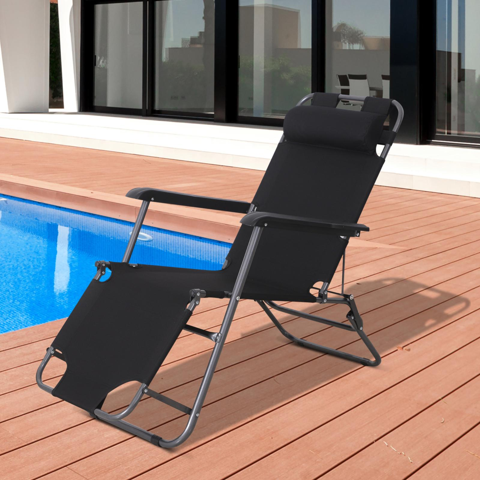 chaise longue transat 2 en 1 pliant  leroy merlin