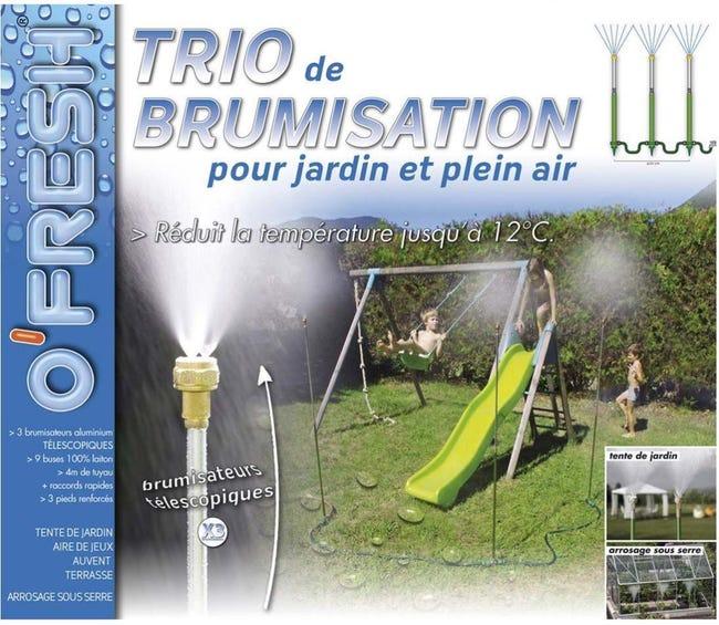 Brumisateur De Jardin Sur Pied Trio 4 Metres O Fresh Leroy Merlin
