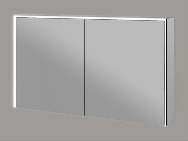 Armoire De Toilette Led Space Avec Eclairage Integre L 120 Cm Verre 85254 Leroy Merlin