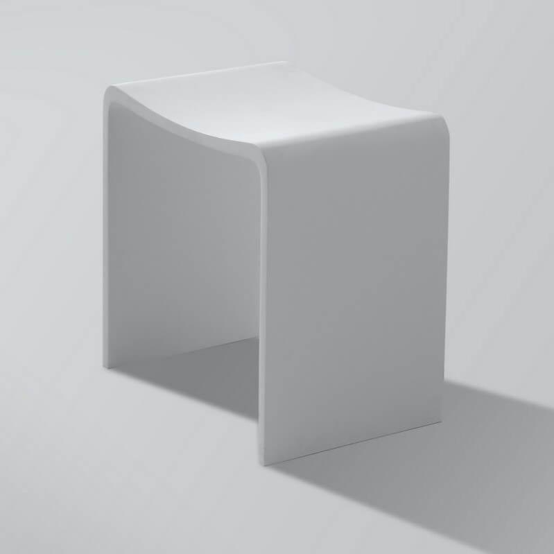 Tabouret De Salle De Bain - Solid Surface Blanc Mat ...
