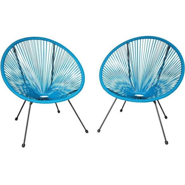 Lot De 2 Chaises De Jardin Bleu 2208267