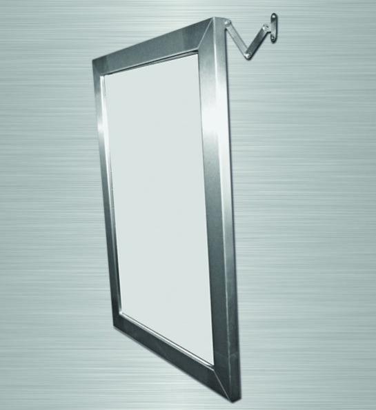 akw  miroir inclinable en inox 700x500x180mm