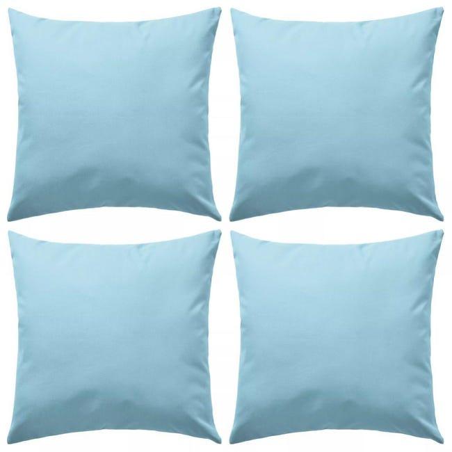 Oreiller D'extérieur 4 Pcs 45 X 45 Cm Bleu Clair Vidaxl
