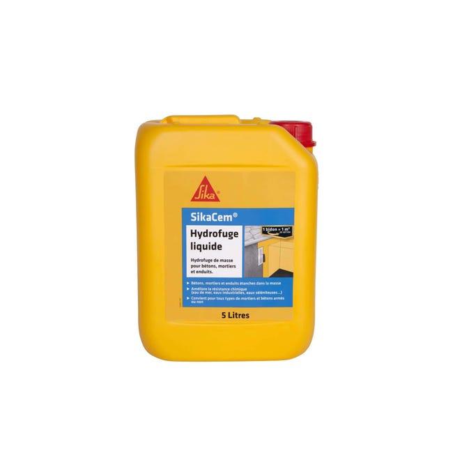 Hydrofuge De Masse Pour Beton Et Mortier Sika Sikacem Hydrofuge Liquide 5l Leroy Merlin