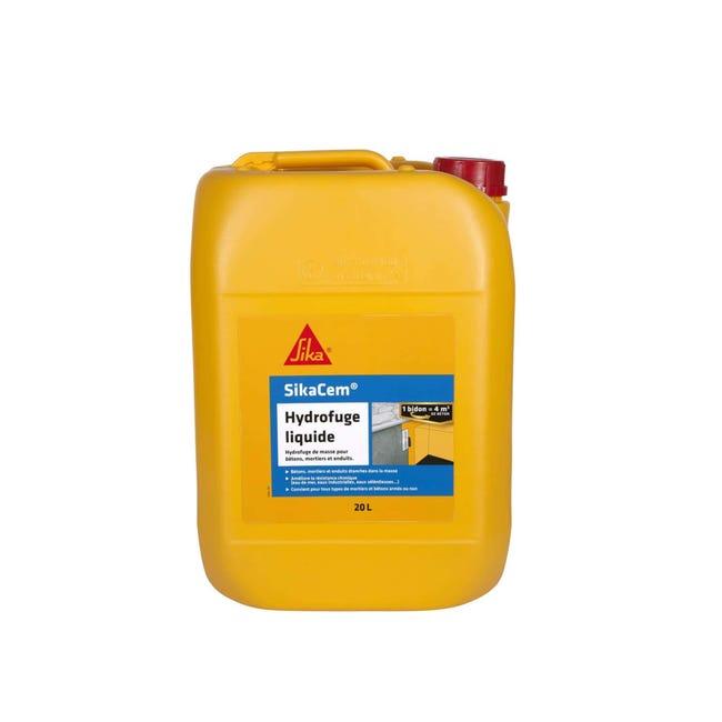 Hydrofuge De Masse Pour Beton Et Mortier Sika Sikacem Hydrofuge Liquide 20l Leroy Merlin