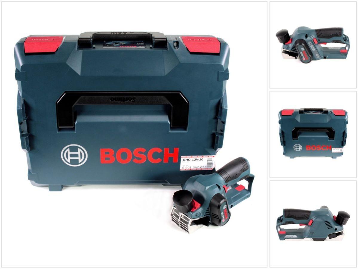 1x Batterie GBA 12 V 6,0 Ah sans Chargeur Bosch GHO 12V-20 Rabots sans fil Professional Coffret L-Boxx