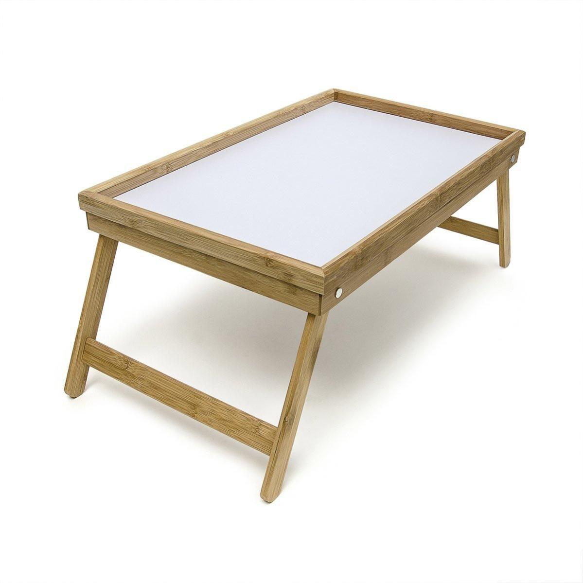 Plateau De Lit Petite Table De Petit-déjeuner En Bambou 6 Cm