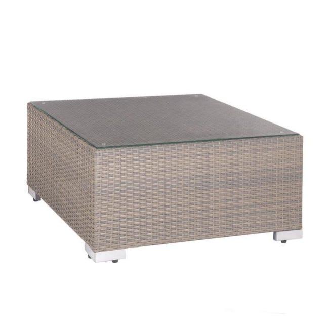 table basse d exterieur rotin taupe baros