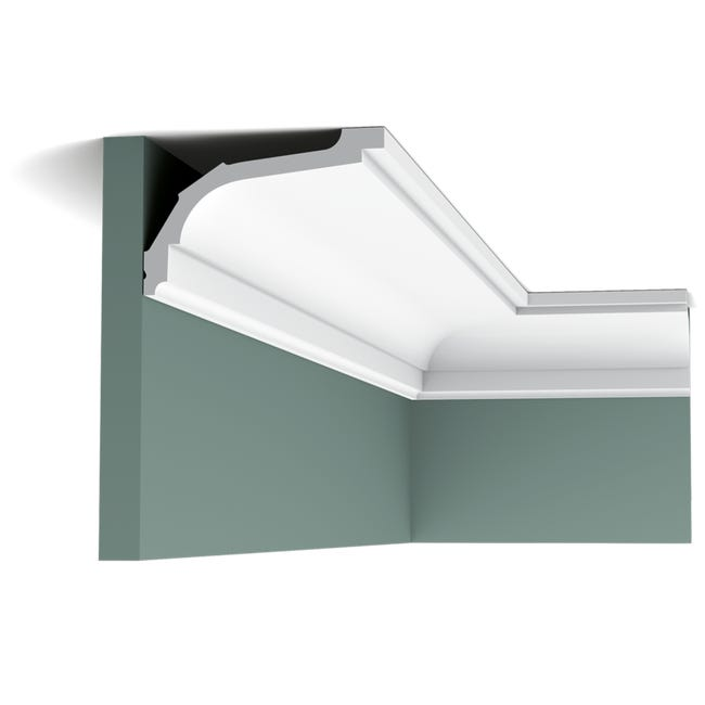 C220 Corniche Plafond Orac Decor 7 5x11 5x200cm H X P X L Moulure Decorative Polyurethane Rigide Ou Flexible Rigide Conditionnement A L Unite Leroy Merlin