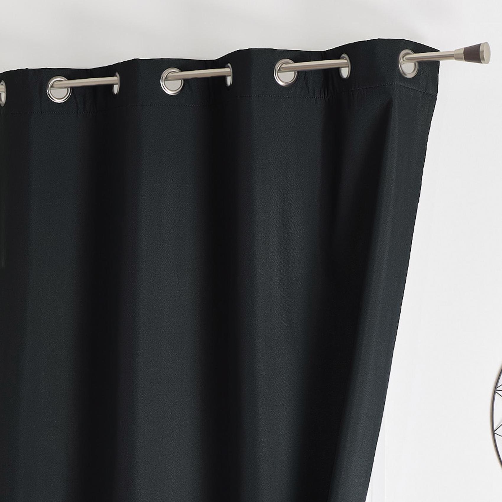 rideau isolant thermique  noir  140 x 260 cm  occultant