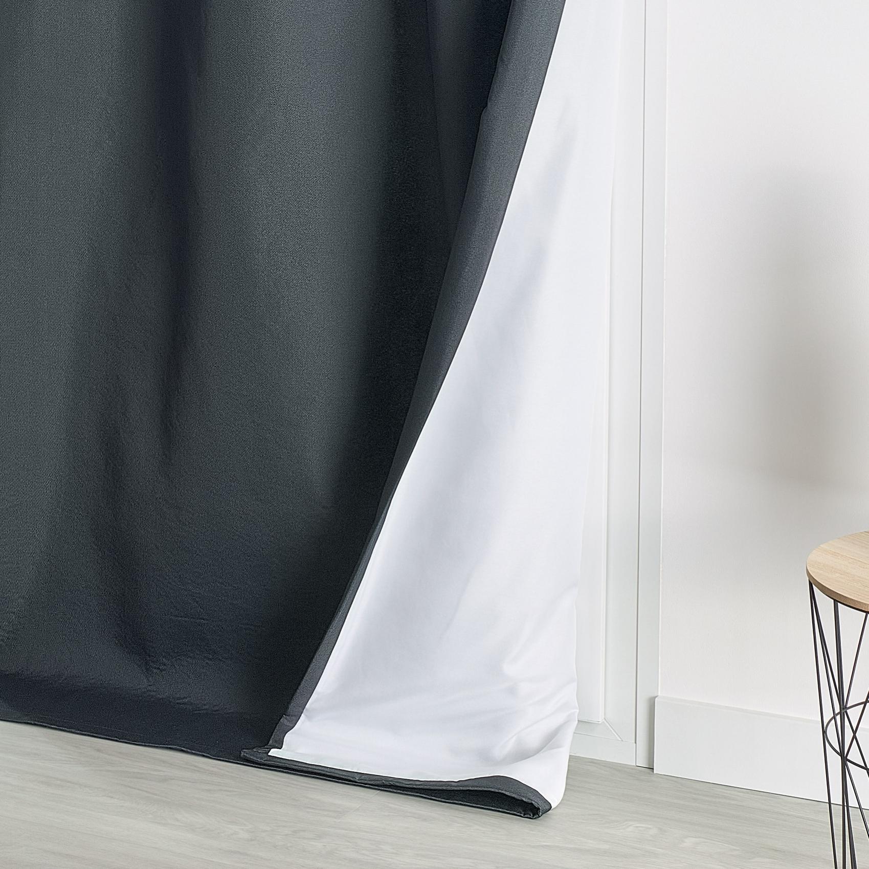 rideau isolant thermique  anthracite  140 x 260 cm