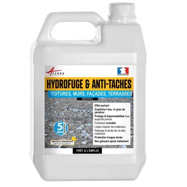 Hydrofuge Et Anti Taches Impermeabilisant Murs Sols Toitures Et Facades Imperpro Incolore 5 L Jusqu A 25m2 Leroy Merlin