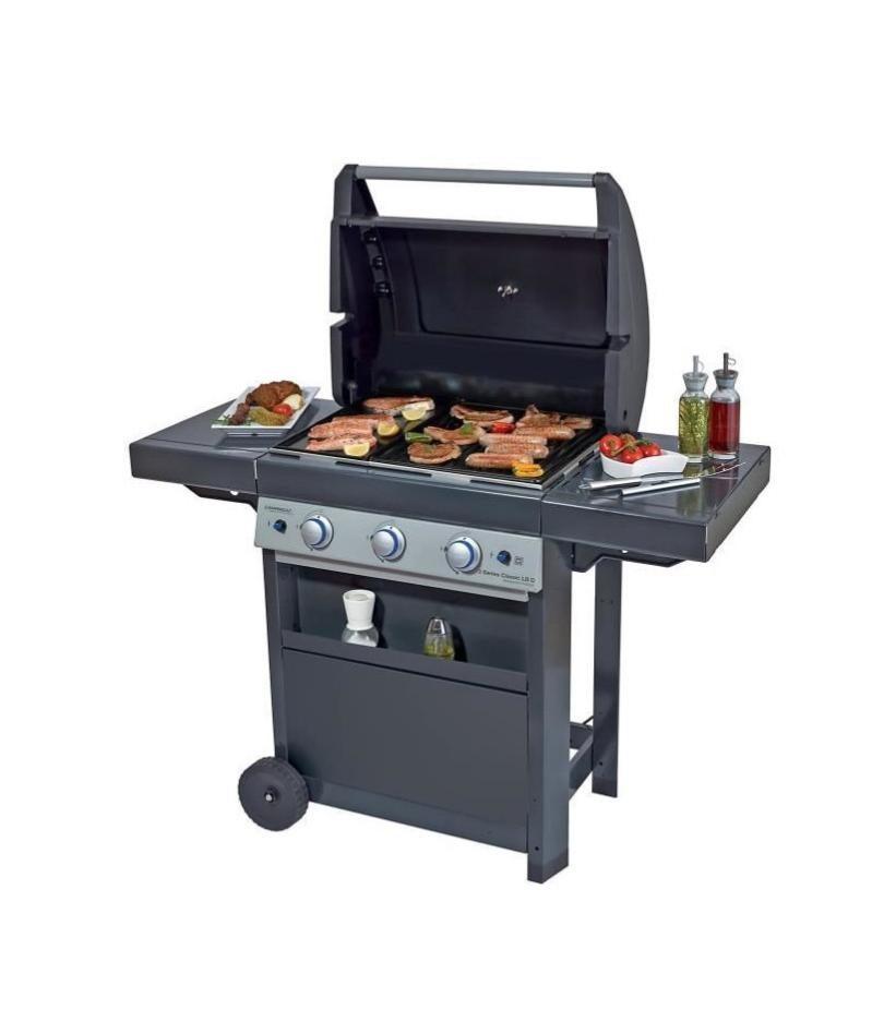 campingaz barbecue a gaz class 3 lbd  grille et plancha