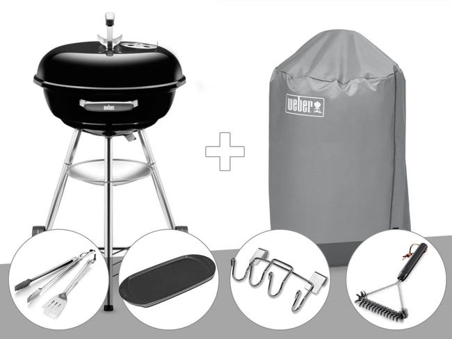 Barbecue Weber Compact Kettle 47 Cm + Housse + Brosse