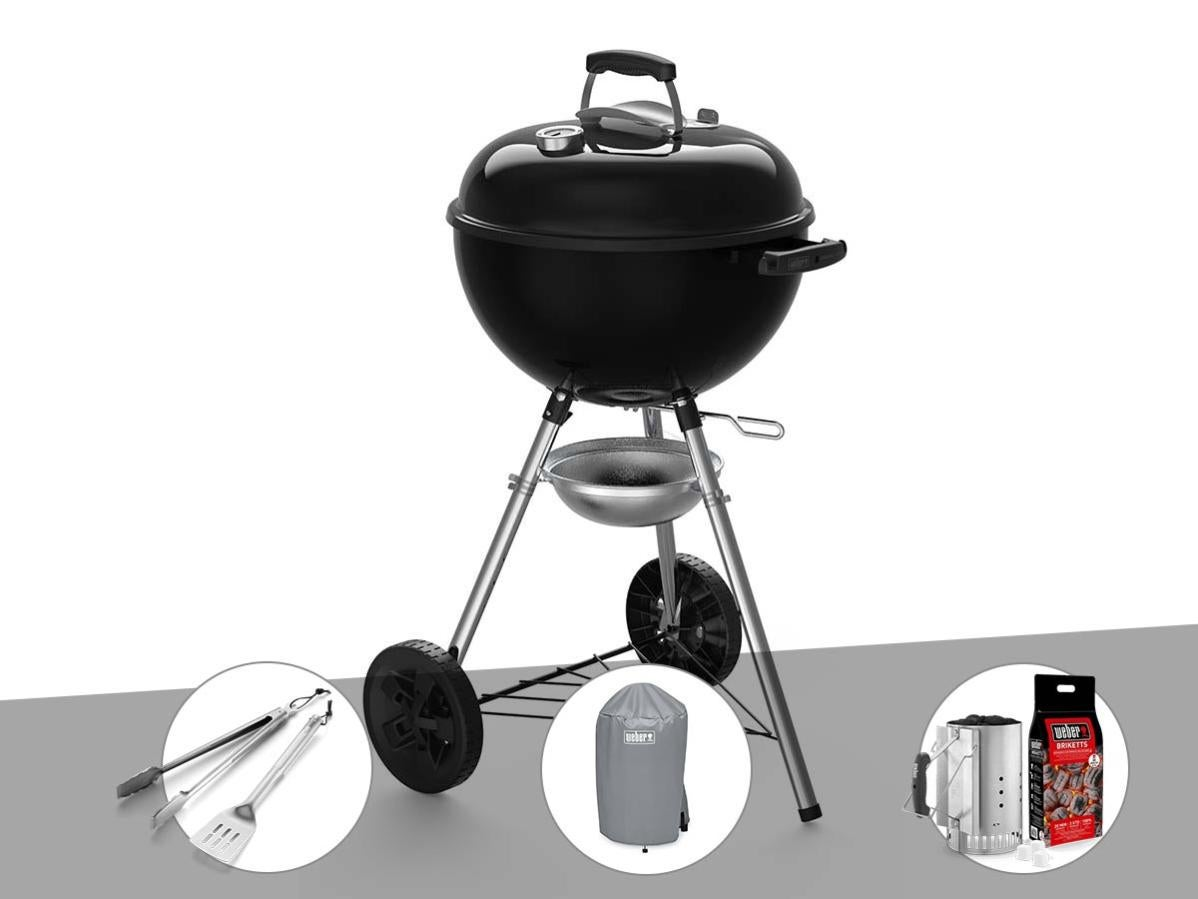 Barbecue à charbon weber original kettle e 4710 47 cm + kit