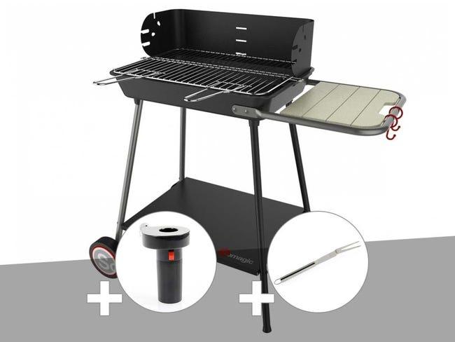 Grille barbecue 90 x 60 au meilleur prix   Leroy Merlin