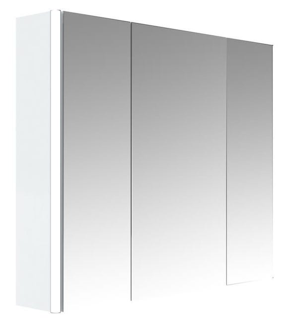 Allibert Armoire De Toilette Eclairante 80 Cm 3 Portes Miroirs Blanc Brillant Stella Leroy Merlin