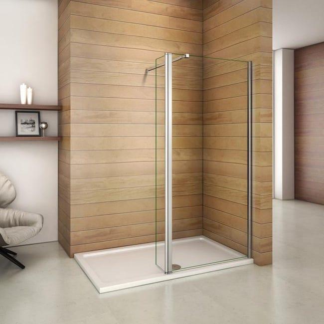 aica paroi de douche 70x200cm avec retour pivotant 30cm paroi de douche a l italienne avec barre de fixation extensible