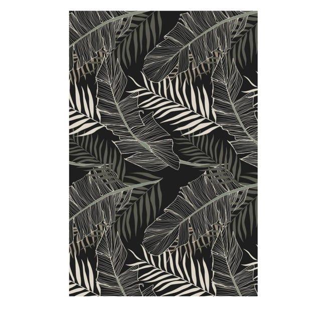 tapis vinyle rectangle motif tropical
