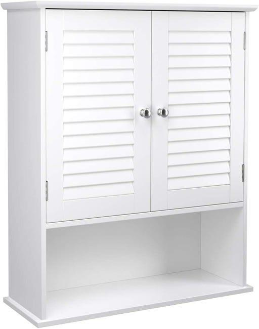 placard meuble de rangement armoire a pharmacie mural mdf blanc 12 0000814