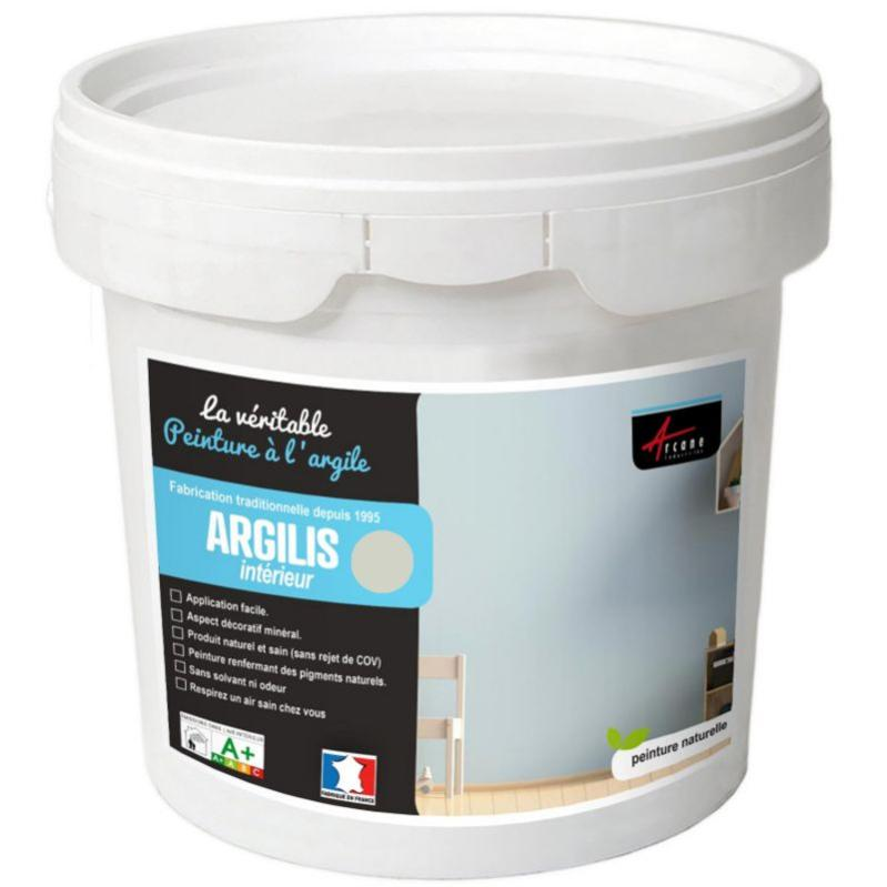 Peinture Argile Naturelle Et Saine Argilis Lynx Gris Beige Kit 15 M 2 5 Kg Arcane Industries Leroy Merlin