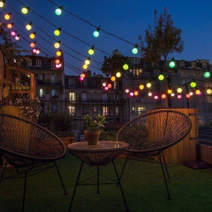 bahiaguirlande lumineuse d'extérieur led l12m multicolore