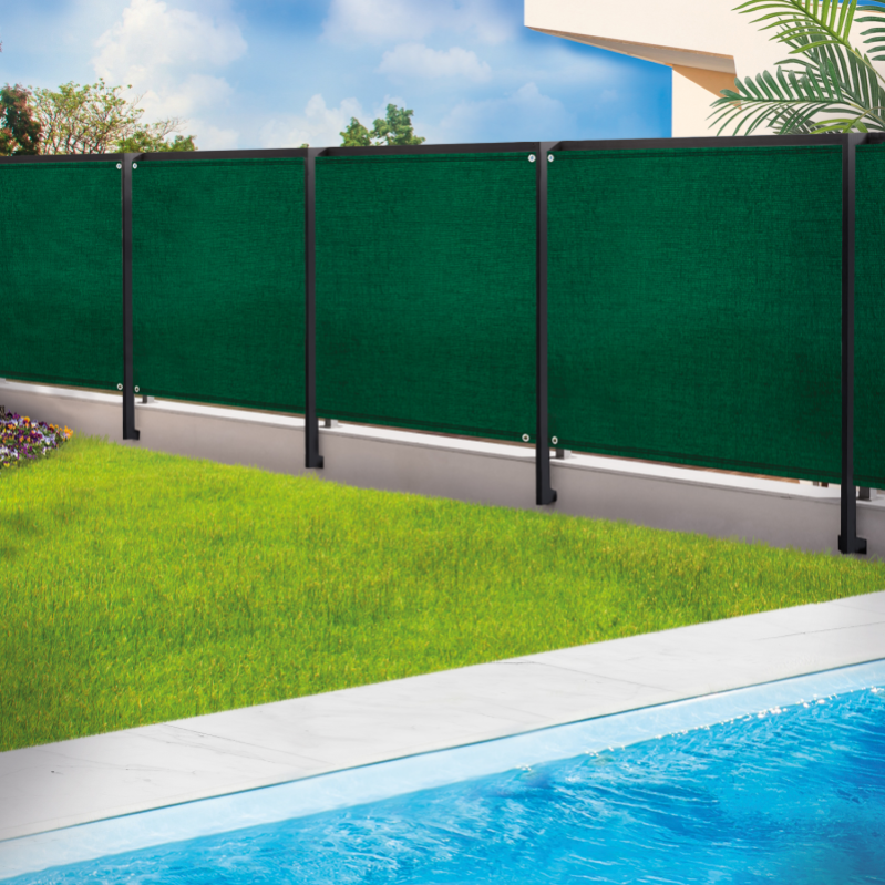 Brise vue renforcé 1 x 5 m vert 220 gr//m² luxe pro
