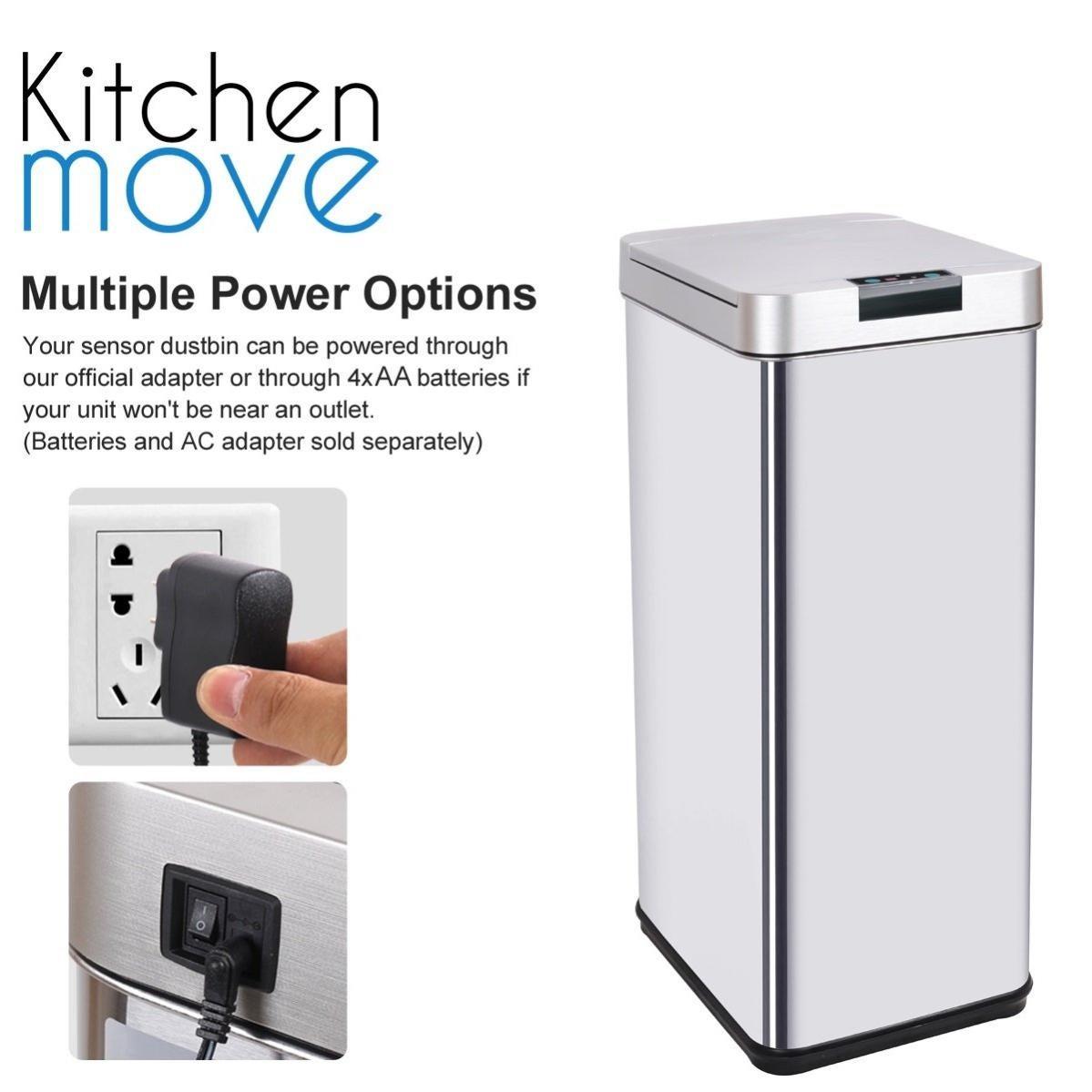 poubelle de cuisine automatique design 50l parkside en