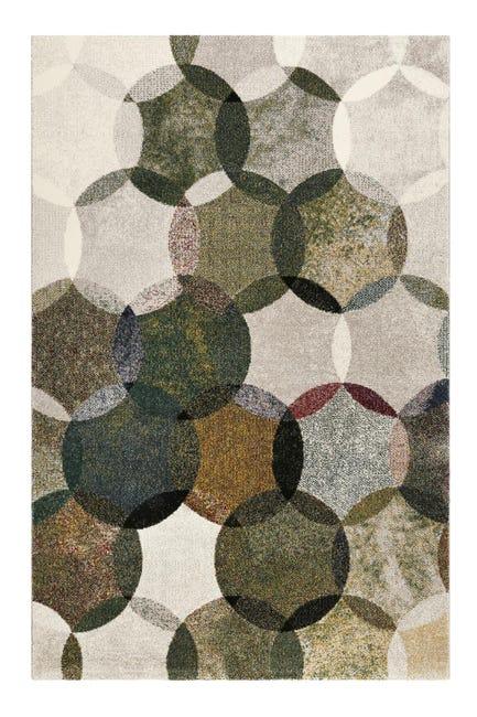 tapis motifs geometriques vert gris pour salon sejour chambre 133x200cm modernina par esprit