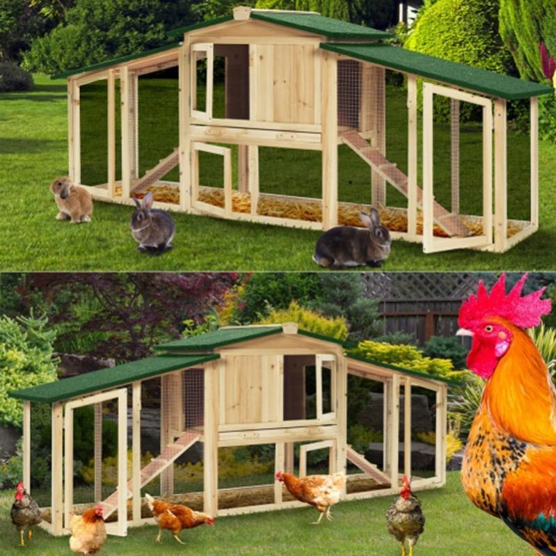 poulailler  clapier grande taille pour poules poulets