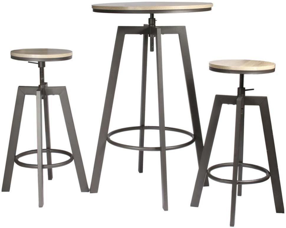 Ensemble Table Mange Debout Avec 2 Tabourets Aria The Home Deco Factory | Leroy Merlin