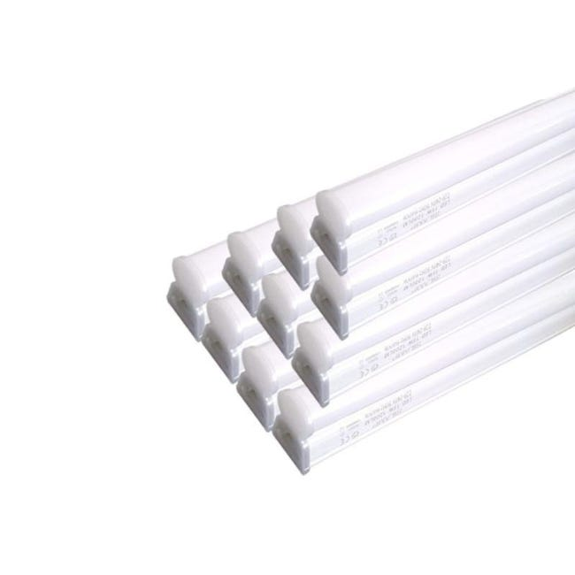 Tube Neon Led 90cm T5 14w Blanc Pack De 10 Blanc Froid 6000k 8000k Silamp Leroy Merlin