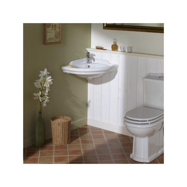 lavabo d angle blanc retro