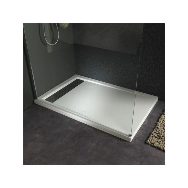 receveur extra plat À poser 80x120 design blanc  leroy merlin